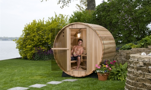 2 person cedar barrel sauna. Black Bedroom Furniture Sets. Home Design Ideas