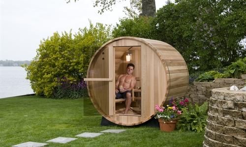 2 person cedar barrel sauna. Black Bedroom Furniture Sets. Home Design Ideas
