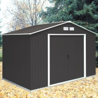 Emerald Anthracite Springdale 10x10 Metal Shed