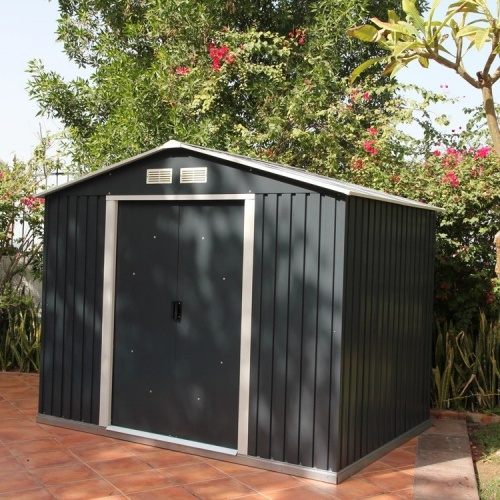Emerald Anthracite Rosedale 8x10 Metal Shed