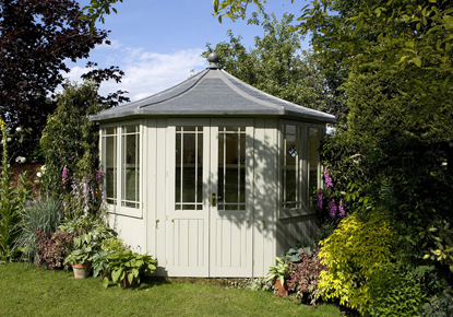 The Newhaven Corner Summerhouse M AndoverGardenBuildingscouk - Corner summer house
