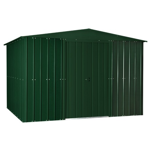 Lotus 10x8 Apex Metal Shed - Heritage Green Solid