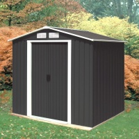 Emerald Anthracite Parkdale 8x6 Metal Shed