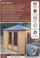 NEW 8x6 Windsor Summerhouse