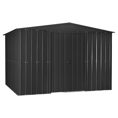 Lotus 10x7 Apex Metal Shed - Anthracite Grey Solid