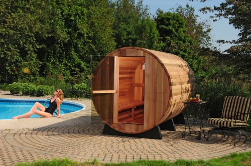 6 person Cedar Barrel Sauna