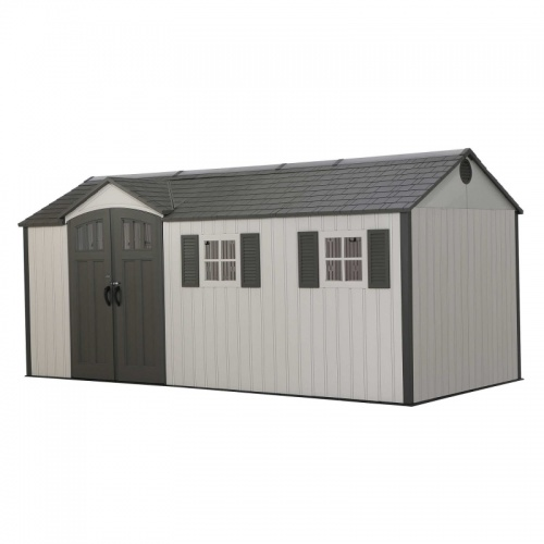 Lifetime 17.5x8 Single Entrance Plastic Shed - New Edition