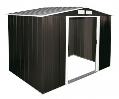 Sapphire 8x6 Metal Shed- Anthrcaite