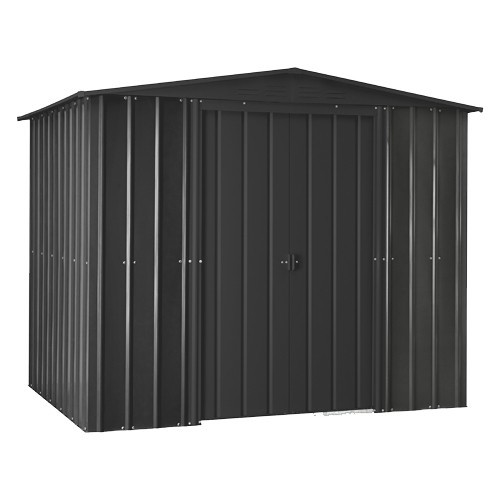 Lotus 8x5 Apex Metal Shed - Anthracite Grey Solid