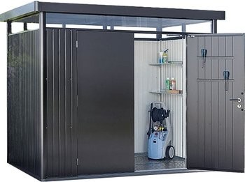 Biohort Heavy Duty Highline H2 Double Door Metal Shed