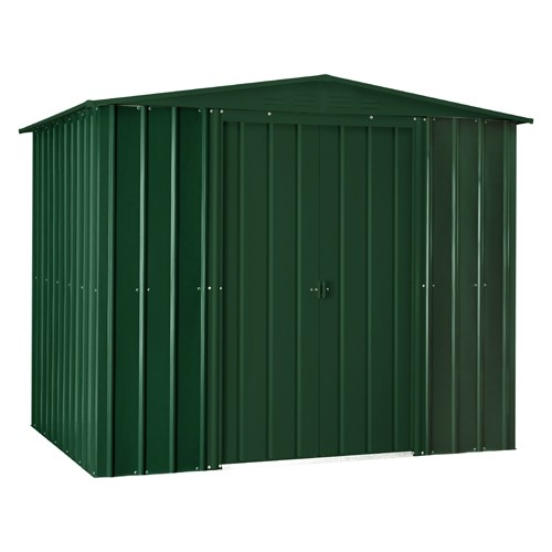 Lotus 8x6 Apex Metal Shed - Heritage Green Solid