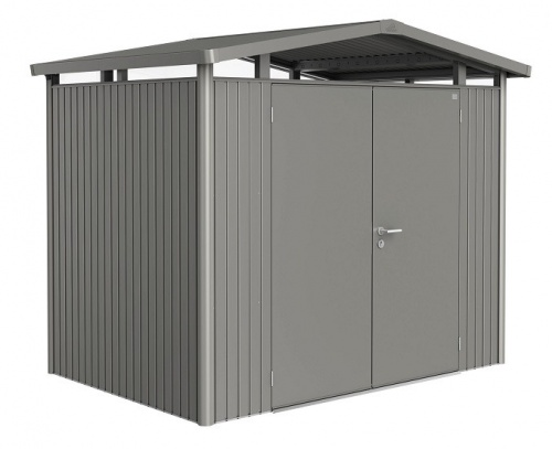 Biohort Heavy Duty Panorama P2 Double Door Metal Shed