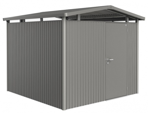 Biohort Heavy Duty Panorama P4 Single Door Metal Shed