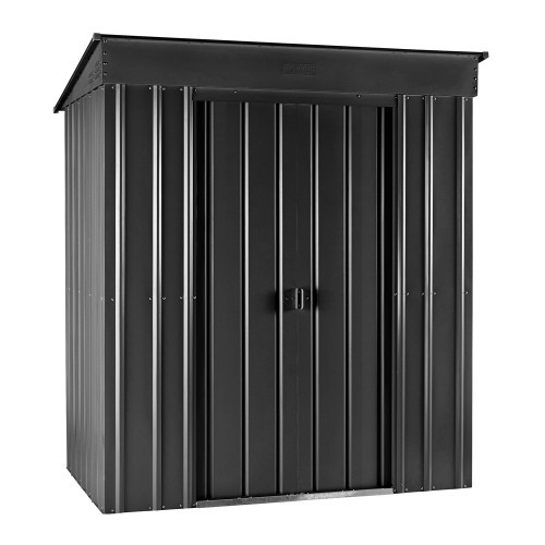 Lotus 6x3 Pent Metal Shed - Anthracite Grey Solid