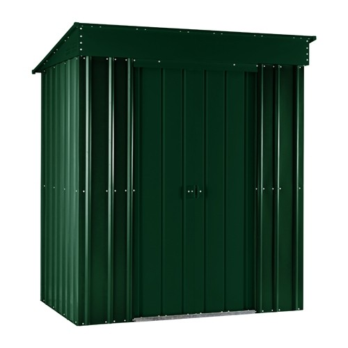 Lotus 6x4 Pent Metal Shed - Heritage Green Solid