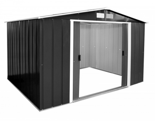 Sapphire 10x10 Metal Shed - Anthracite