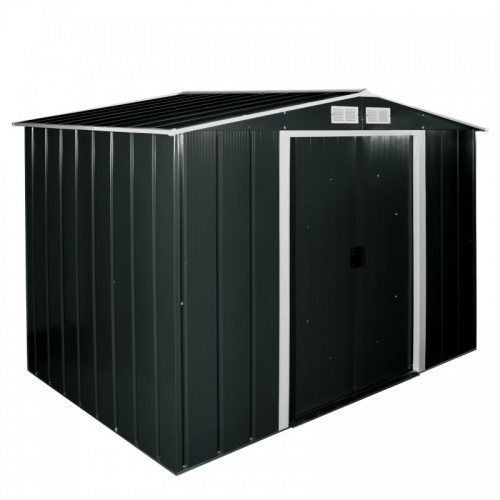 Sapphire 8x8 Metal Shed - Anthracite
