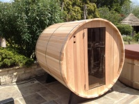 4 Person non-knotted wood home sauna