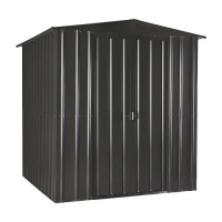 Lotus 6x4 Metal Shed - Anthracite Grey Solid