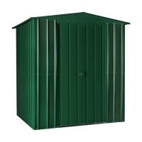 Lotus 6x8 Apex Metal Shed - Heritage Green Solid