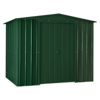 Lotus 8x3 Apex Metal Shed - Heritage Green Solid