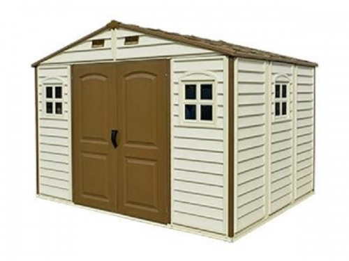 Woodside 10' x 8' Plastic Shed (3 windows and a foundation kit)